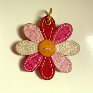 Coach flower key chain